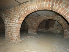 The basement of Drapers' Hall, which was used as an Air Raid Precaution shelter during the Second World War (c) MOLA