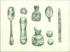 Archaeological finds from the Bishopsgate Goodsyard (c) Peta Bridle