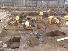 MOLA excavations at Angel Street, Northampton
