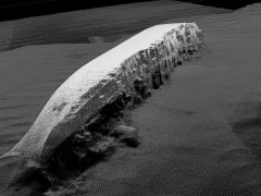 SS Derbent created from multi beam echo sounder (MBES) data points. Image produced by Bangor University for the U-boat Project.
