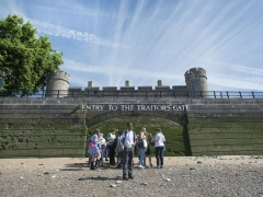 School session explore archaeology at the Traitors Gate (c) MOLA
