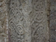 The Anglo-Saxon carved stone newly uncovered at Stowe Nine Churches, Northamptonshire (c) MOLA.png