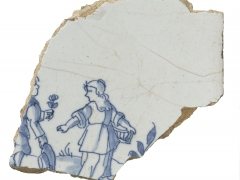 Dutch or English delftware tile (c) MOLA