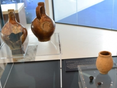 Display of artefacts found at the site of The Walbrook Building on display in the development.