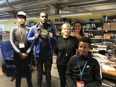 Young people from MOLA's Built Heritage Youth Engagement Programme meet CEO Janet Miller