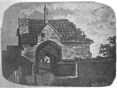 Engraving of the Great Gate of Stratford Langthorne Abbey in 1758 by an anonymous artist. Reproduced by kind permission of Newham Heritage.