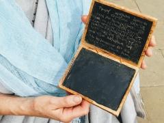 A replica Roman writing tablet