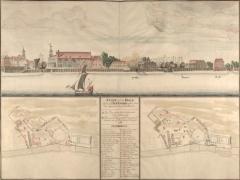 1698 view of the Dockyard. © City of London, London Metropolitan Archives