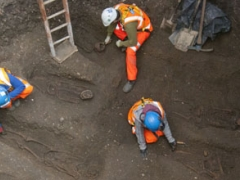 Skeletons at Crossrail site