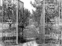 An image of the gardens c.1910. © Country Life