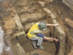 The Milk Street mikveh fully excavated
