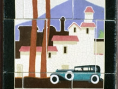 'Postcards' tile from Newtown,Wales.