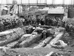 1954 Temple of Mithras excavation