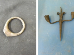 Medieval ring and medieval candle sconce