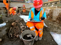 Archaeologists begin main excavation of Broadgate ticket hall (c) Crossrail