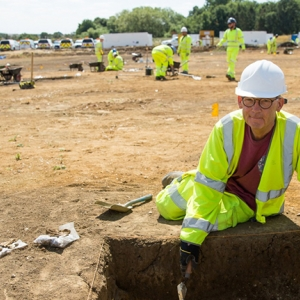 A14C2H Community Dig volunteer Donald (c) Highways England, courtesy of MOLA Headland Infrastructure.jpg