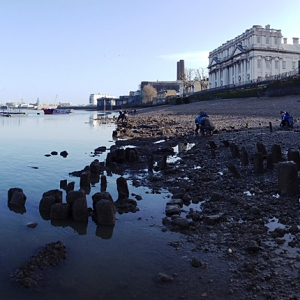 The medieval foreashore at Greenwich (c) Thames Discovery Prgoramme