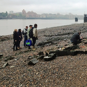 The Thames Discovery Programme on the Rotherhithe and Bermondsey foreshore (c)Thames Discovery Programme