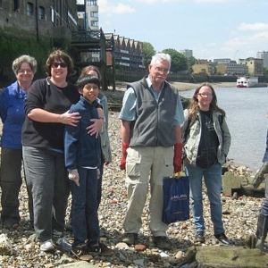 The Thames Discovery Programme on the Rotherhithe foreshore