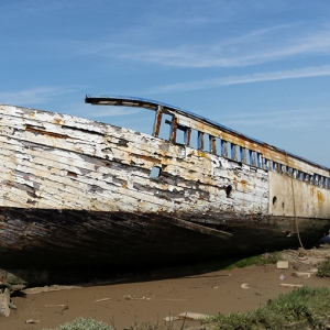 An abandoned vessel at Maldon's 'barge graveyard' (c) CITiZAN