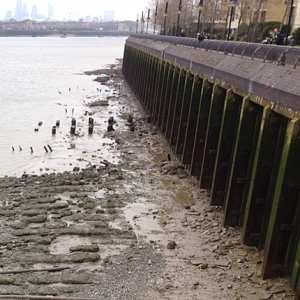 SS Great Eastern launch slipway (upstream of Masthouse Pier) (c) Thames Discovery Programme