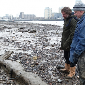 The Thames Discovery Programme examining ship timbers of the London foreshore (c) Thames Discovery Programme
