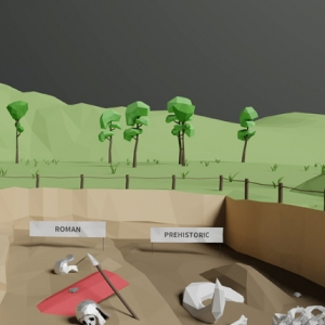 HS2 archaeology animation still