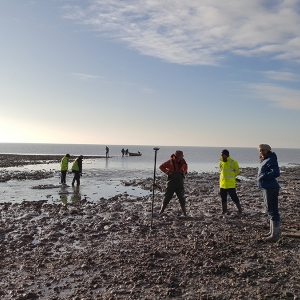 CITiZAN volunteers record the newly exposed archaeology at Cooper's Beach in Essex (c) CITiZAN