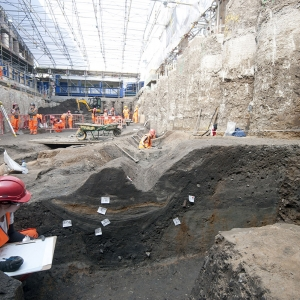 Cross-section of Roman roadside ditch uncovered at Liverpool Street station ticket hall (c) Crossrail.jpg