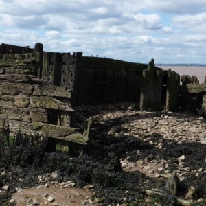 A vessel at Earle's Shipyard CITiZAN coastal archaeology training young people