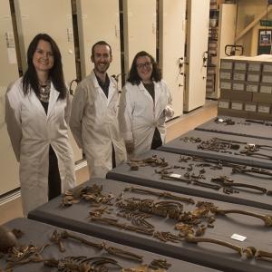 Human Osteologists at MOLA (c) MOLA
