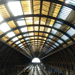 Kings Cross station train shed roof