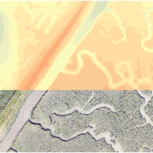 Salt marsh extract, RGB and height model