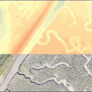 Salt marsh extract, RGB and height model