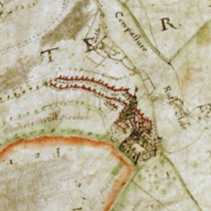 Part of the map of Cliffe Bailiwick, Rockingham Forest circa 1640 © The National Archives