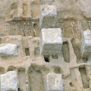 Cemetery excavation at the Royal Mint site in London
