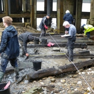 Thames Discovery Programme Family walk Deptford community archaeology shipbuilding heritage