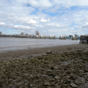 View towards the Thames Barrier (c) Thames Discovery Programme