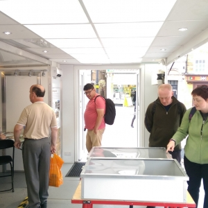 Visitors on board the Time Truck in Northamptonshire (c) MOLA