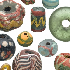 Beads from archaeological excavations at Mucking, Essex