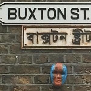 Buxton Street sign for MOLA archaeology traineeship
