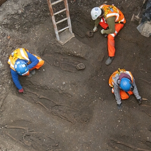 Burial ground discovered at Charterhouse, London
