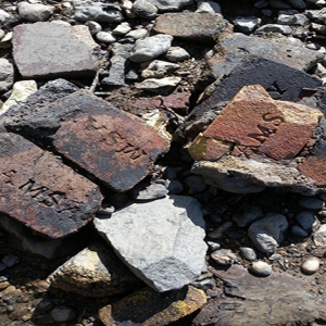 Fire Bricks found by the Thames Foreshore TDP