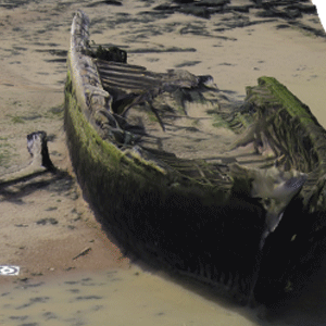 Wreck of the Danish Schooner Hans Egede, Cliffe, Kent - 3D model
