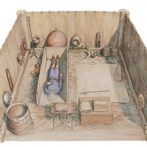Prittlewell princely burial reconstruction (c) MOLA