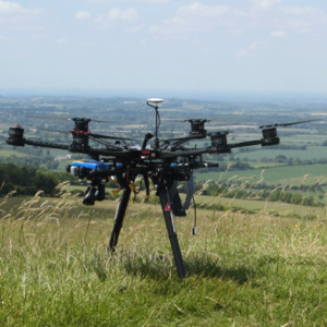 MOLA Hexacopter at Uffington Hillfort