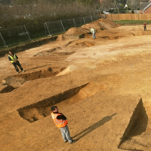 Archaeological excavation on the Stanton Housing Scheme, Suffolk