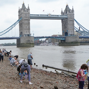 Thames Discovery Programme on the Tower of London foreshore