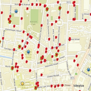 The Streets They Left Behind interactive map