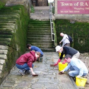 The Foreshore Recording and Observation Group working at Wapping Old Stairs